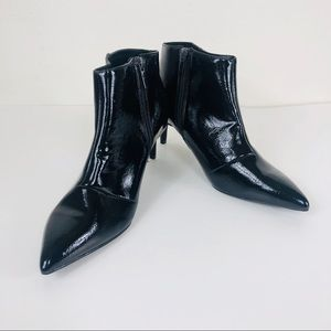 A New Day Black Patien Leather Ankle Booties/9.5W